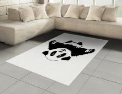 Sevimli Panda Halı (Kilim) Sevimli Panda Desenli