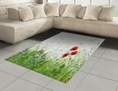 Gelincik Çiçeği Desenli Halı (Kilim) Yusufçuk Bahar