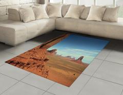 Çöl ve Gökyüzü Temalı Halı (Kilim) Kahverengi Mavi
