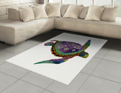 Deniz Kaplumbağası Halı (Kilim) Rengarenk