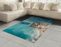 Deniz Gören Evler Halı (Kilim) Deniz Mavi