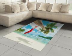 Egzotik Adada Noel Halı (Kilim) Palmiye Deniz