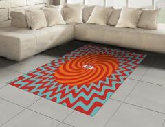 Hipnotize Edici Halı (Kilim) Kırmızı Turuncu Mavi