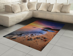 Taşlı Kumsal ve Gökyüzü Halı (Kilim) Turuncu