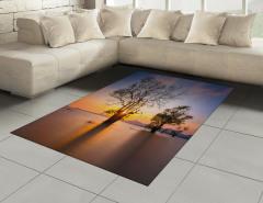 Ağaç ve Gökyüzü Temalı Halı (Kilim) Ağaçlar