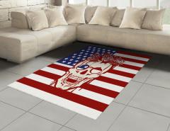 Kuru Kafa ve Gül Halı (Kilim) ABD Bayrağı