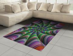 Rengarenk Desenli Halı (Kilim) Fraktal Geometrik