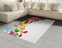 Damla ve Çiçek Desenli Halı (Kilim) Şık Tasarım Trend
