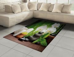 Orkide Mum ve Taş Halı (Kilim) Spa Efektli