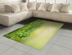 Yeşil Orman Manzaralı Halı (Kilim) Sarı Arka Plan