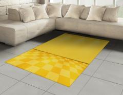 Spot Lambalı Sarı Halı (Kilim) Damalı Efektli