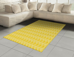 Sarı Duvar Kağıdı Halı (Kilim) Limon Formlu