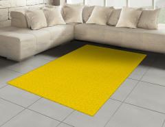 Çiçekli Duvar Kağıdı Halı (Kilim) Sarı Fon
