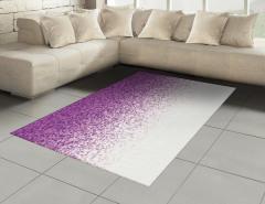 Mozaik Desenli Halı (Kilim) Mor Şık Tasarım Trend