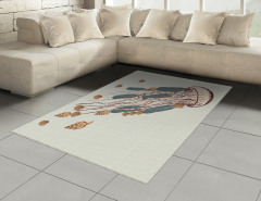 Denizanası Desenli Halı (Kilim) Deniz Kabuğu Bej