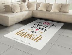Aşk Temalı Halı (Kilim) Sevgililer Günü İçin Trend