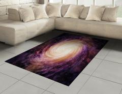 Mor Yıldızlar Desenli Halı (Kilim) Uzay Temalı Şık
