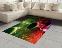 Uzayın Derinlikleri Desenli Halı (Kilim) Gezegenler