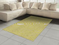 Sarı Dalga Desenli Halı (Kilim) Şık Tasarım