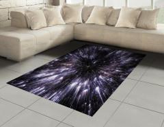 Yıldızlar ve Uzay Halı (Kilim) Gri Siyah Şık