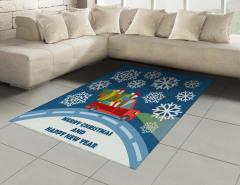 Kar ve Noel Kamyoneti Halı (Kilim) Hediye