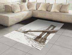Köprü Desenli Halı (Kilim) El Çizimi Şık Tasarım