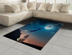 Ay'a Atlayan Kedi Halı (Kilim) Mavi Yıldız Şık