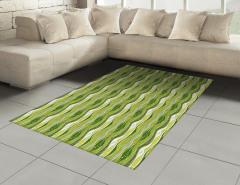 Yeşil Şeritli Halı (Kilim) Şık Tasarım Dekoratif