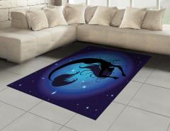 Mavi Ay ve Deniz Kızı Halı (Kilim) Şık Tasarım