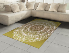 Dekoratif Mandala Desen Halı (Kilim) Şık Tasarım