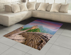 Pembe Mor Çin Seddi Halı (Kilim) Dekoratif