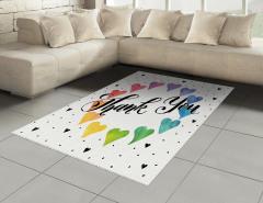 Sulu Boya Kalpler Halı (Kilim) Rengarenk Dekoratif