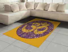 Dekor Mozaik Mandala Halı (Kilim) Mor