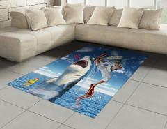Köpek Balığına Tekme Halı (Kilim) Deniz