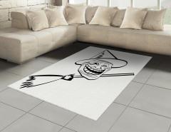 Külahlı Süpürgeli Deli Halı (Kilim) Karikatür