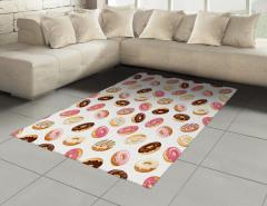 Nefis Donut Şöleni Halı (Kilim) Şık Tasarım