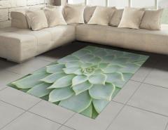 Yeşil Çiçek Desenli Halı (Kilim) Dekoratif Doğa