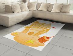 Kumdan Kale Desenli Halı (Kilim) Sarı Dekoratif