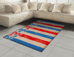 Kalpli Amerikan Bayrağı Halı (Kilim) Nostaljik
