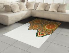 Rengarenk Üç Mandala Halı (Kilim) Dekoratif
