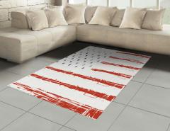 Silik Amerikan Bayrağı Halı (Kilim) Dekoratif