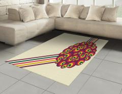 Dekoratif Daireler Desenli Halı (Kilim) Geometrik
