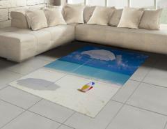 Kumsaldaki Şemsiye ve Top Halı (Kilim) Deniz Bulut