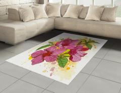 Amber Çiçeği Desenli Halı (Kilim) Dekoratif Çeyizlik
