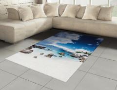 Beyaz Kumlu Cennet Plajı Halı (Kilim) Mavi Gökyüzü