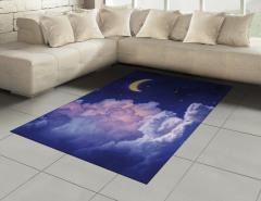Aydede Bulutlar Yıldız Halı (Kilim) Gece Gökyüzü
