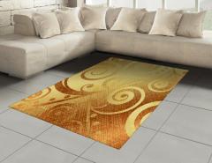 Altın Spiral Desenli Halı (Kilim) Dekoratif