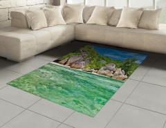Tropik Kayalık Sahil Halı (Kilim) Dekoratif