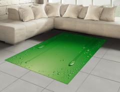 Yeşil Zemin ve Damlalar Halı (Kilim) Dekoratif