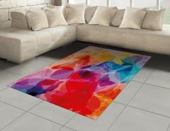 Rengarenk Dekoratif Desenli Halı (Kilim) Sulu Boya